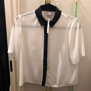 NWT asos crop button down shirt